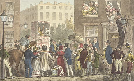 Vintage illustration of the Horn's Punch & Judy Show